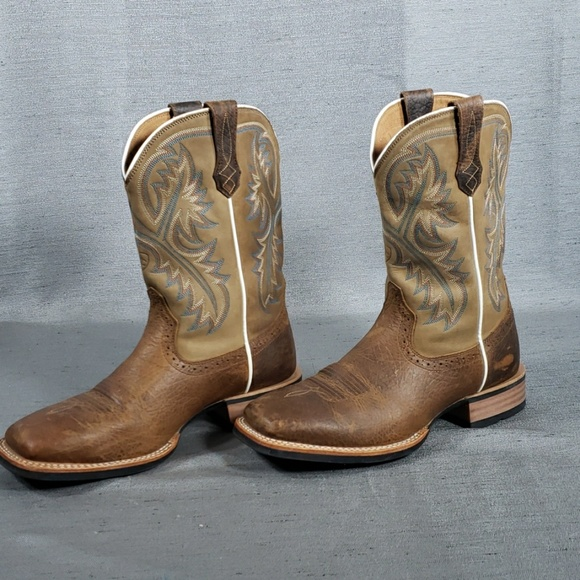 b8a95e0ac8d Ariat 9 Wide Leather Quickdraw Square Toe Boots